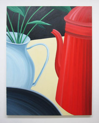 赤いポット:Red Pot  130.0 × 97.0 cm  oil on canvas
