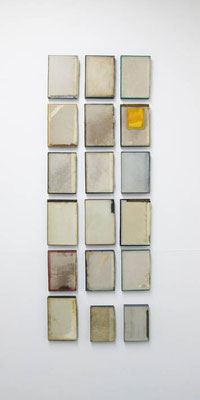 Untitled ( group B set of 18 ) 2016 本・蝋:book・wax h. 21.5 × w. 14.8 × d. 2.7 cm
