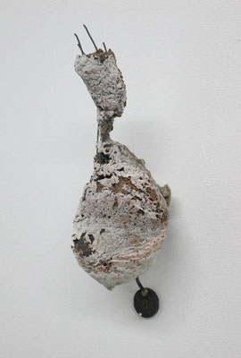 ただそこにあるもの 2016 灰、ガラス、真鍮、鉄:glass, ash, brass, iron h. 24.0 × w. 9.5 × d. 9.0 cm ¥ 64,800.-