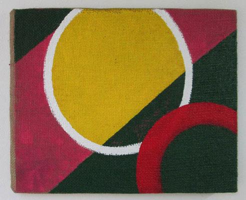 円2:circle 2 2016-17 合成樹脂塗料、ジュート麻、木製パネル:synthetic resin coating, jute hemp, wood panel ¥ 37,800.-