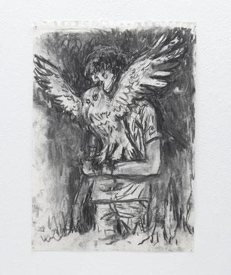 無題:untitled  2018  木炭、紙:charcoal, paper  41.8 × 29.6 cm