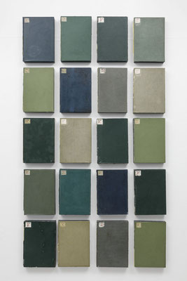 Untitled (group A set of 20)   2016  本・蝋:book・wax h. 21.5 × w. 14.8 × d. 2.7 cm