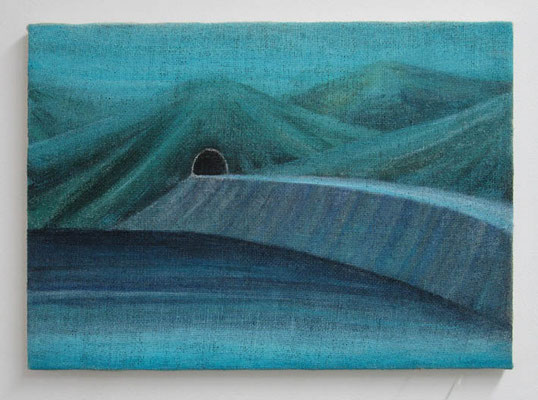 昔描いたダム:The dam which I drew before  33.3 × 45.5 cm  oil on canvas