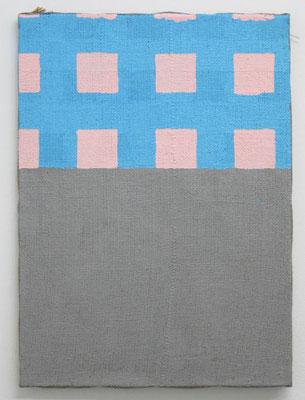 柔らかな壁 2017 60.0 ×  42.5 cm 合成樹脂塗料、ジュート麻、木製パネル