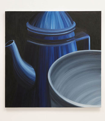 Cup and Pot  80.3 × 80.3 cm  oil on canvas