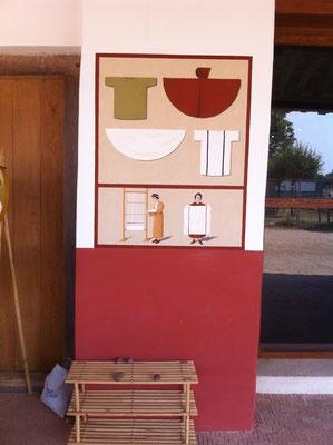 Wandbild an den Handwerkerhäusern im APX, 2014