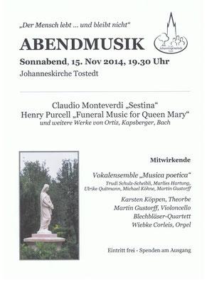 Ein wunderschönes Konzert Musica poetac 2014, leider haben sie sich aufgelöst...