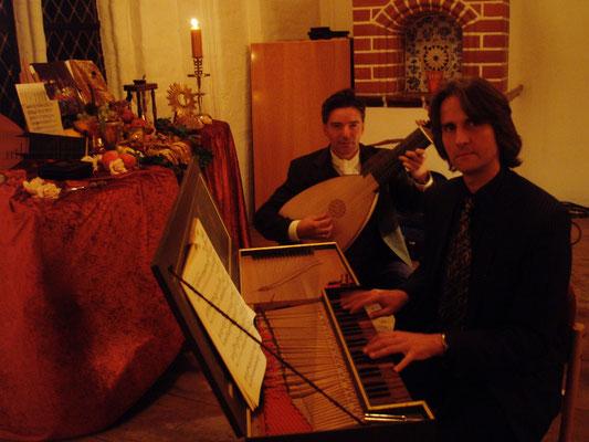 Konzert mit Laute und Spinett mit Tobias Gravenhorst in der Abtskapelle, St. Michaelis  am 26.12.2008