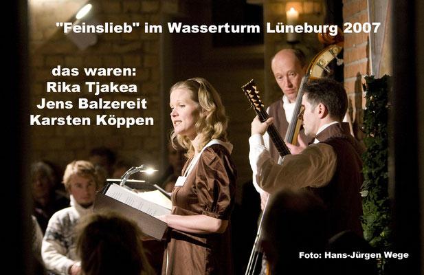 Dieses Foto entstand bei der Vorstellung unserer ersten und einzigen CD von Feinslieb. Foto: Hans-Jürgen Wege