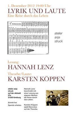 Laute und Lyrik im Atelier von Anja Struck