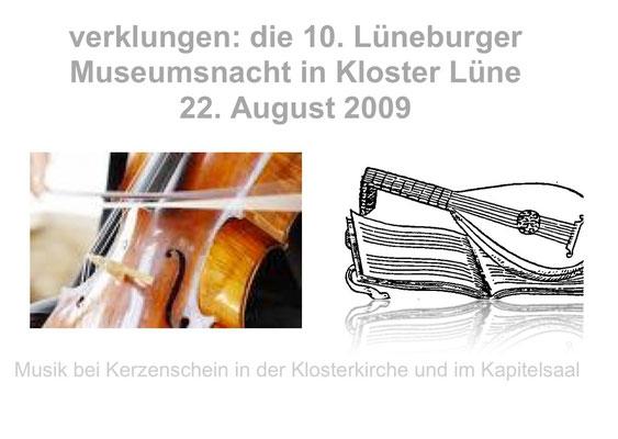 Kloster Lüne: Museumsnacht mit Barbara Hanssen (Cello) und K. Köppen (Laute)
