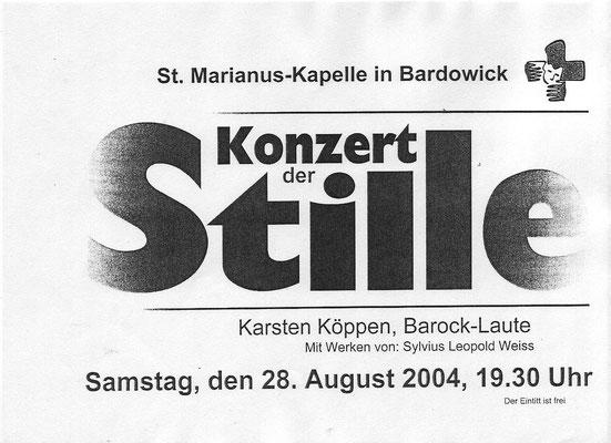 Mein erstes Konzert 2004 in Bardowick mit der 11 chörigen