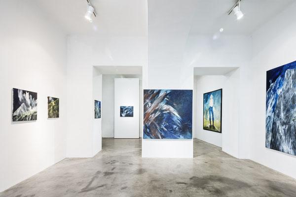Ausstellungsansicht Galerie Transit 2018, Foto: Croce & WIR; BOOKLET zur Ausstellung mit einem Vorwort von Barbara B. Edlinger und Textbeiträgen von Helene Romakin, Christine E. Hollerer, GALERIE TRANSIT, Graz