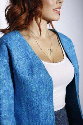 Двухсторонний жакет Голубая лагуна $185
