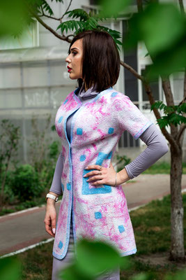 """Двустороннее летнее пальто  """"Лагуна""""   $ 270"""
