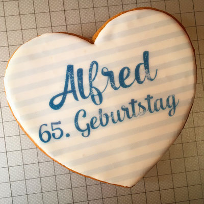 """individuelle Lebkuchen """"Zum 65. Geburtstag"""""""