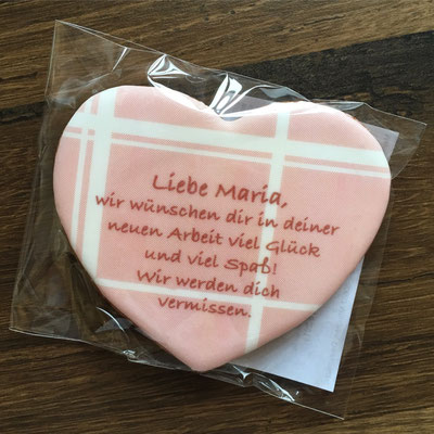 """individuelle Lebkuchen """"Herz zum Abschied 2"""""""