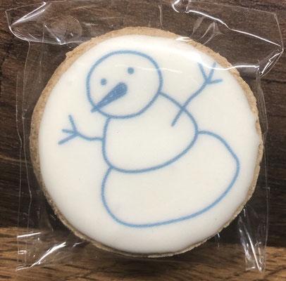 Saisonale Lebkuchen Weihnachten Mini Schneemann