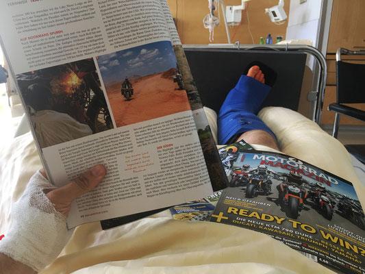 Motivations-Lektüre im Krankenhaus
