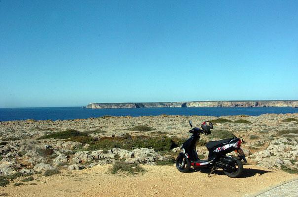 Portugal, Algarve, Sagres (südwestlichster Punkt des europäischen Festlands) - kein Tiger, aber es fährt auch :)