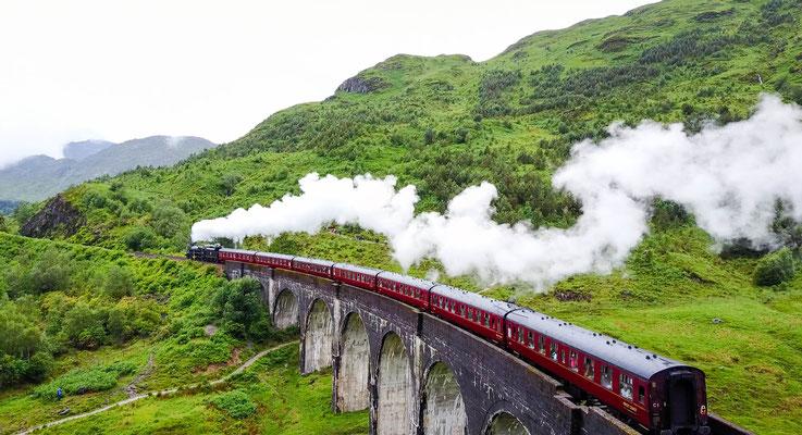 Glenfinnan Viadukt, aus der Luft