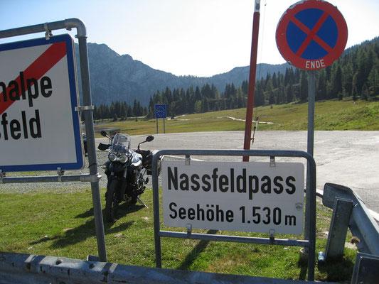 Nassfeldpass (österreichische Seite)