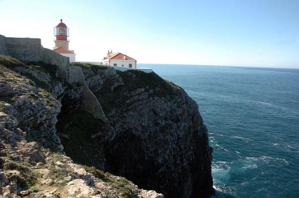 Portugal, Algarve, Sagres (südwestlichster Punkt des europäischen Festlands), Leuchtturm