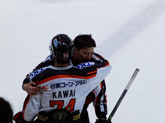 今シーズン限りでの引退を発表しているアイスバックス#7福沢選手