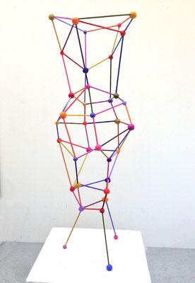 """Vase 2014 Acrylic on steel and epoxy 38 x 12 x 12"""" (sold)"""