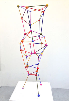 "Vase 2014 Acrylic on steel and epoxy 38 x 12 x 12"" (sold)"