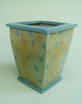 Square vase, 1979, Ceramic, height. One of dozens of functional ceramic pieces made between 1970 and 1979.