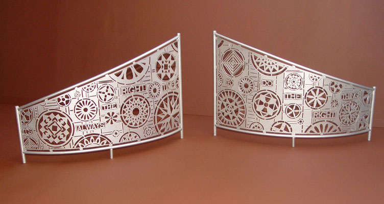 Model for Hinds Gateways,  c 2010. Representing one of about 40 public commissions.