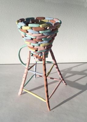 "Cup, 1979, Acrylic on ceramic, h. 6"""