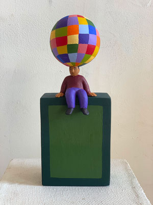 Little Sitter, 2021 Acrylic on epoxy & styrofoam. More to follow....