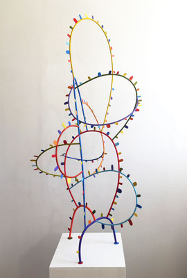 Coaster 2014,  Acrylic on welded steel, 64 x 30 x 40""