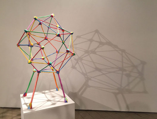 "Chair 2013, Acrylic on plaster, styrofoam and welded steel,   50 x 20 x 22"""