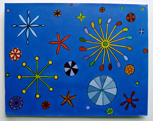 Blue, 2006, Acrylic on Illustration board