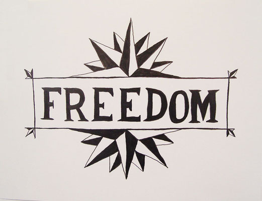 """Freedom, 2007,  Graphite on Strathmore paper, approx. 16 x 20"""". Part of an ongoing series of drawings."""