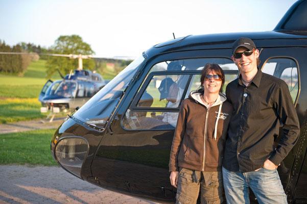 Hubschrauberfluggäste