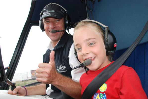 Hubschrauberflug mit Kinder