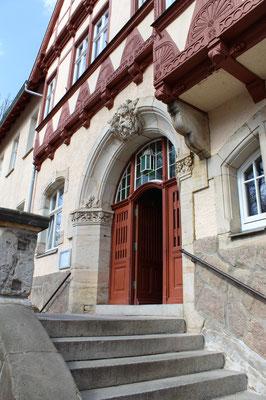 Hallenbad Quedlinburg: Mehr als einen Blick wert - das Eingangsportal!