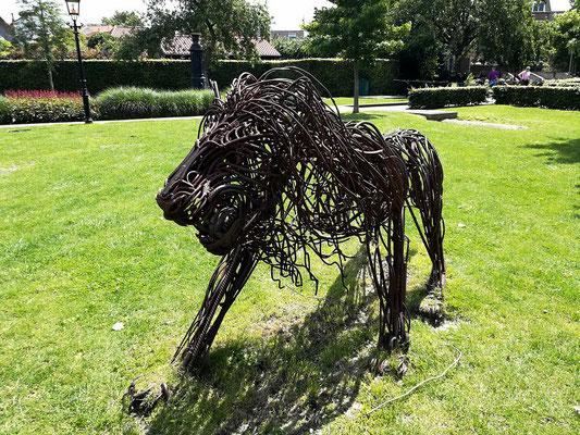 Löwe aus Stahl in Harderwijk