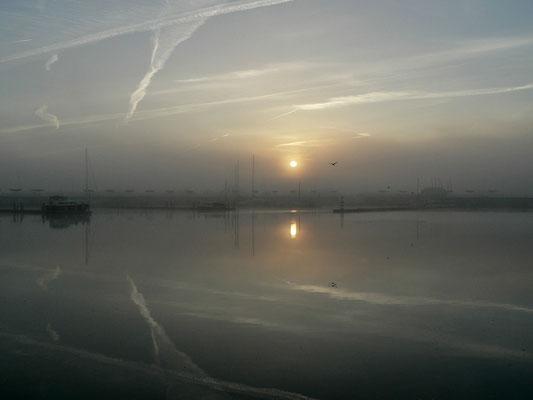 Nebel verhindert eine frühe Abfahrt