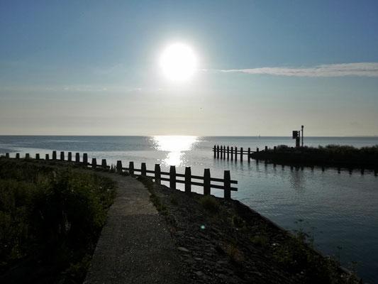 Sonnenaufgang über dem Ijsselmeer