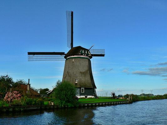 Eine von vielen Mühlen in Holland