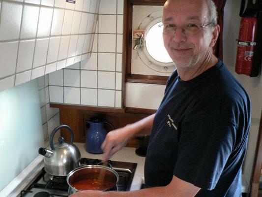 Wenn der Skipper kocht gibt es immer Suppe