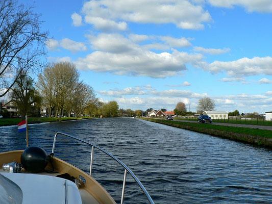 Unterwegs auf dem Ringvaart van de Haarlemmermeerpolder