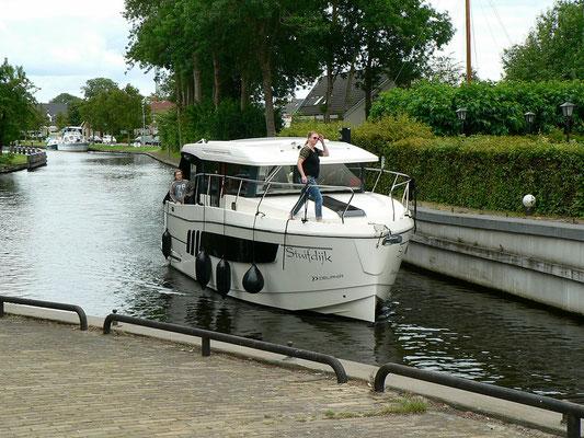 Familie Gebauer mit ihrer Charterjacht Stuifdijk