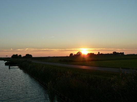 Zum Abend noch ein schöner Sonnenuntergang