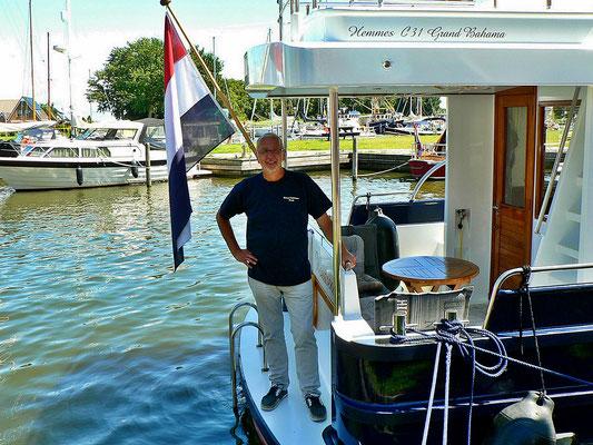 Achtung, der Skipper geht von Bord